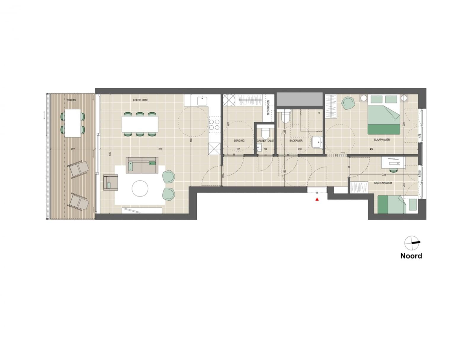 Appartement 2 slaapkamers
